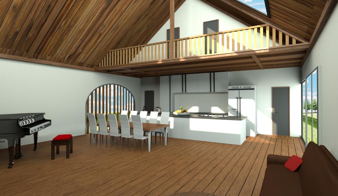 Interieur naar de keuken 2
